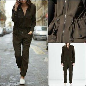 Zara military green jumpsuit M